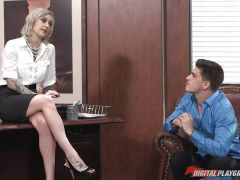 Kleio Valentien fucked in the office