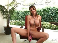 Hot Naked Babe Fucks The Sybian Sex Machine