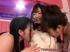 Jap Orgy Lesbians Toying And Licking Pussy