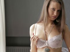 Hot Nika plays with herself