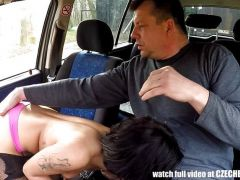 Hot Teen Whore Banged in Car