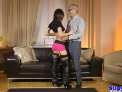 Amateur eurobabe bangs old british male