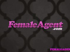 FemaleAgent Agent fulfills busty blondes strap on fantasy