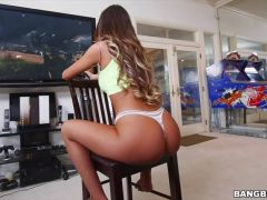 Gamer August Ames finally gets distracted by his throbbing hard on