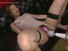 Smoking hot doll with red hair goes facial in the room