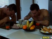 Skank blows bisex hunks
