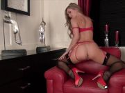 Samantha Alexandra is hot and horny in lingerie