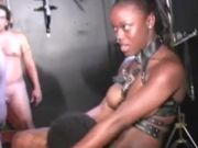 Sexy black slave cocksucking, fucking and bukkake!