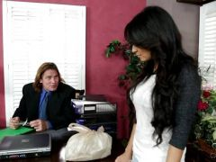 Office desktop fucking for sexy delivery girl Jasmine Rain