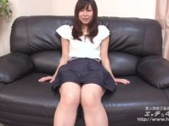 Hot Asian On Couch Convinced To Take Off Her Clothes