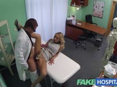Hot babe fucks her doctor
