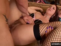 Wife with hairy pussy cuckold