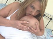 Carol Brown Masturbating With White Boots