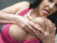 Carol Brown Melons Play & Dildo Fucking huge melons