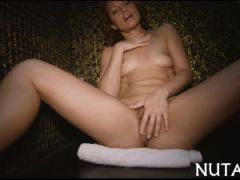 Babe fucks herself with a toy
