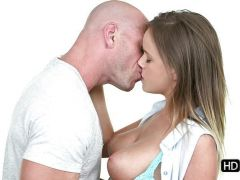 Alexis Adams and her husband making love