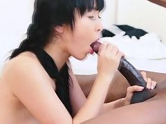 Skinny Naked Babe Gets Her Pussy Fucked By Hard Black Dick
