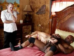 Raunchy Raylene gets fucked by BBC as she is watched
