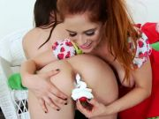 Whipped cream in her analhole