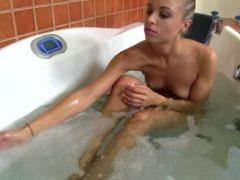 A Hot Young Blonde Gives A Fuck And A Footjob