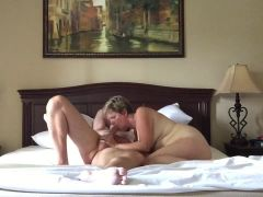 Wife gives our friend a blowjob and gets a nice fuck