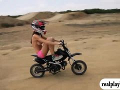 Hot badass women try out wake boarding and BMX riding