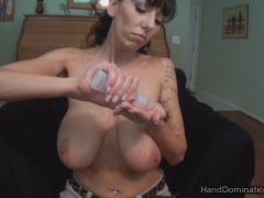 big natural tits smothers a huge erection