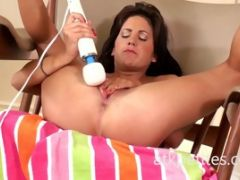 Lina Paige Uses a Hitachi on Her Sweet Pussy