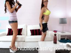 Nubiles Casting - Cock hungry teen cums again and again