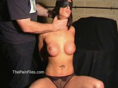 Busty Danii Blacks breast whipping and bareback hellpain spanking of fit