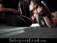 Sensual russian brunette favourite play toy in bondage