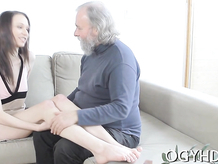 Crazy old dude fucks young girl
