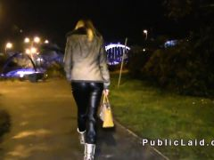 Russian amateur banged loud in public
