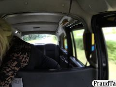 Blonde bitch gives a blowjob and screwed by fake driver