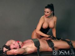 Dominated sub gets fucked by mistress